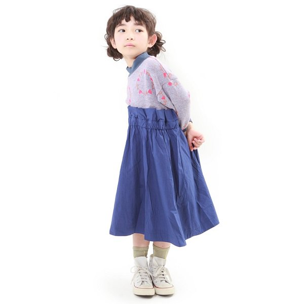 【MoL】blossom crown ミリタリーワンピース|Hブルー|80-120cm