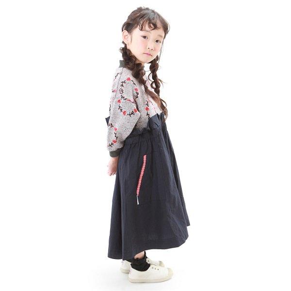 【MoL】blossom crown ミリタリーワンピース|Hチャコール|80-105cm