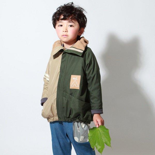 【MoL】バルーンミリタリージャケット|カーキ|90-120cm