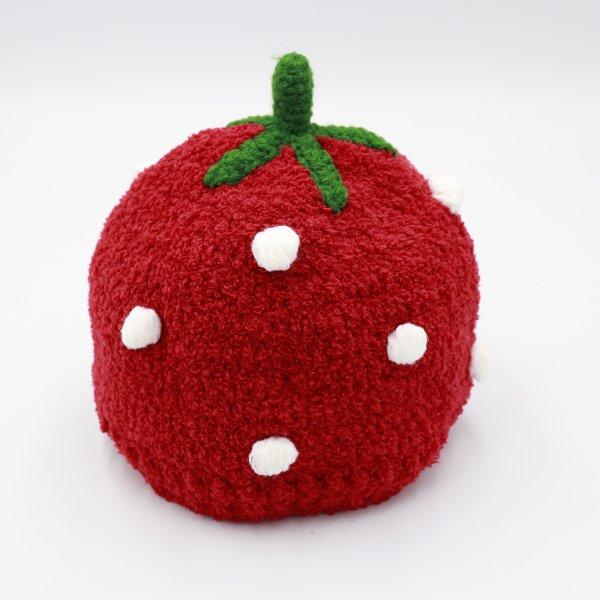 【shapox】イチゴワッチ帽|アカ