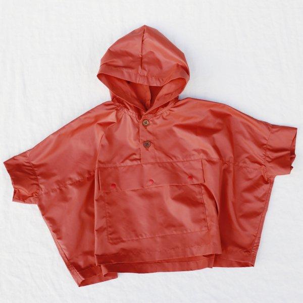 【nunuforme】ワイドアノラック|オレンジ|95-130cm、レディース