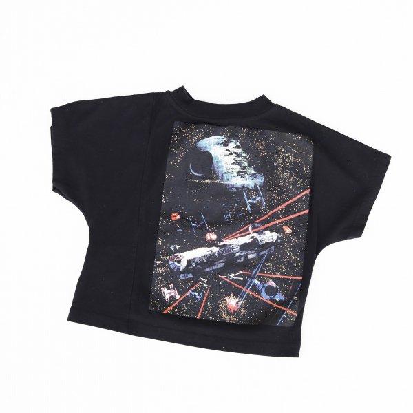 【Groovycolors】STAR WARS DEATH STAR ワイドシルエットTシャツ|ブラック|90-140cm