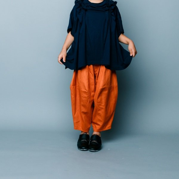 【nunuforme】ポインテットパンツ|オレンジ|115-125cm