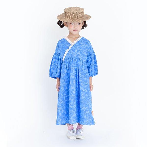 【先行予約】【MoL】ユカタワンピース|ブルー|90-150cm