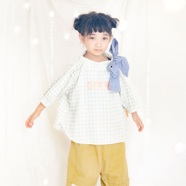 【MoL】ストロベリープレゼントTシャツ|ペールブルー|90-150cm