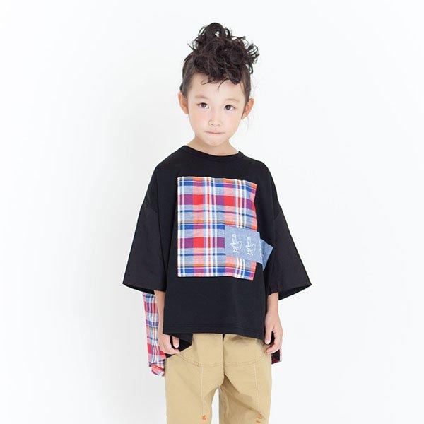 【先行予約】【MoL】パッチワークBIRD-Tシャツ|ブラック|90-150cm、レディース