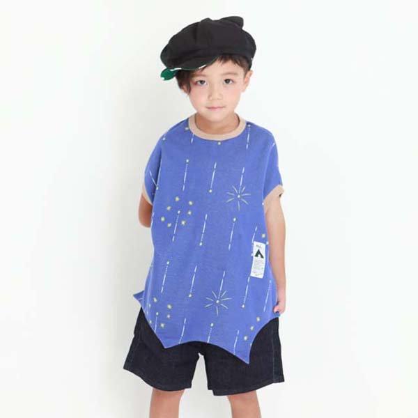 【MoL】SKYROCKET-Tシャツ|ネイビー|80-150cm、レディース