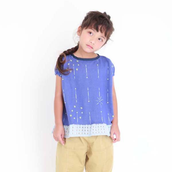 【MoL】静けさスパークル Girls-Tシャツ|ネイビー|90-120cm