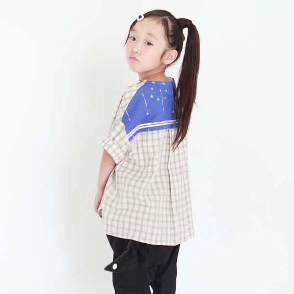 【MoL】チェックセーラーTシャツ|モカ|90-135cm
