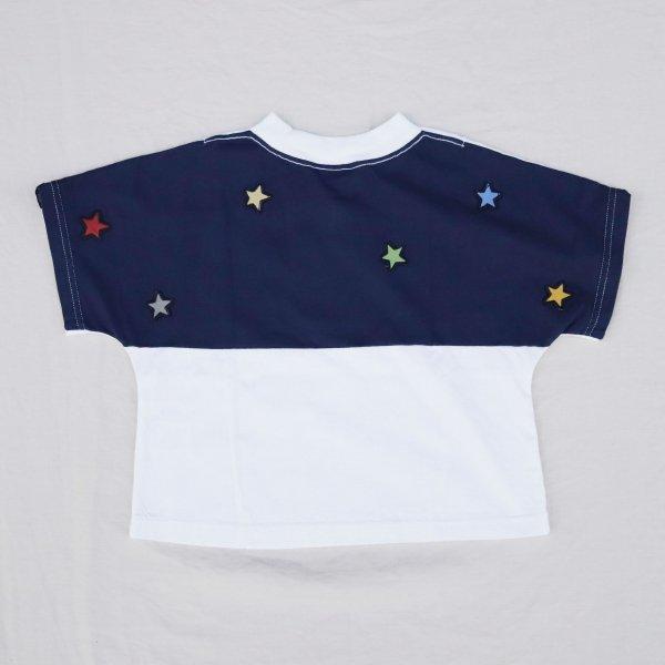 【Groovycolors】STAR ワイドシルエット Tシャツ|ホワイト|90-140cm