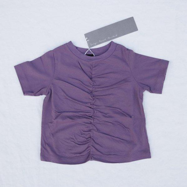 【SWAP MEET MARKET】シャーリングTシャツ|パープル|90-140cm