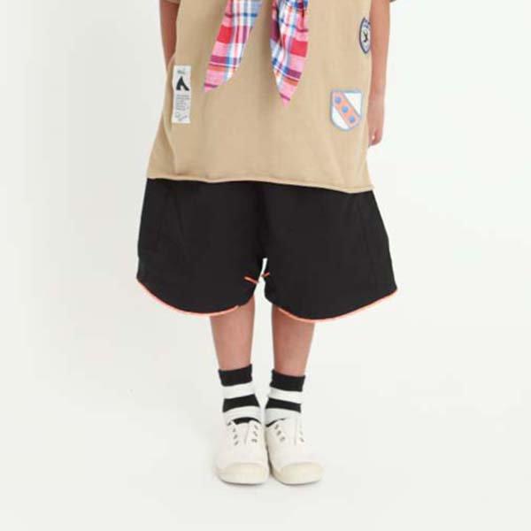 【MoL】バイピングパンツ|ブラック|90-150cm