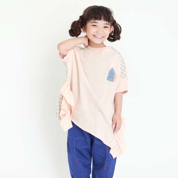 【MoL】antique stamp GIRLS-Tシャツ|モカ|80-150cm,レディース