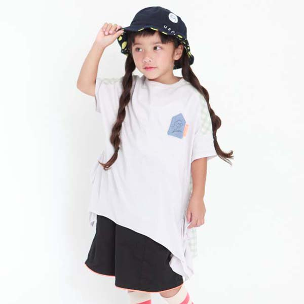 【MoL】antique stamp GIRLS-Tシャツ|ペールブルー|90-135cm,レディース
