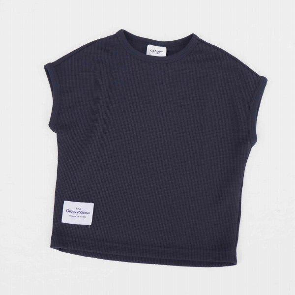 【Groovycolors】DRY-Xワッフル GRAFFITI Tシャツ|ネイビー|90-140cm