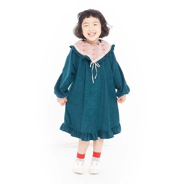 【MoL】yu-zoraワンピース|グリーン|90〜150cm