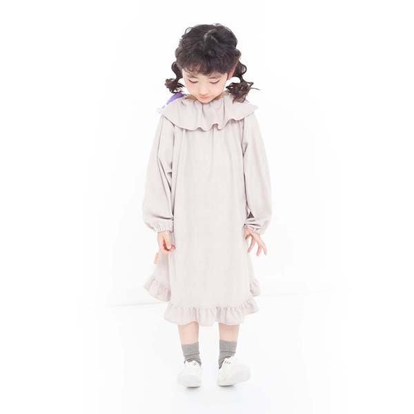【MoL】yu-zoraワンピース ベージュ 90〜150cm