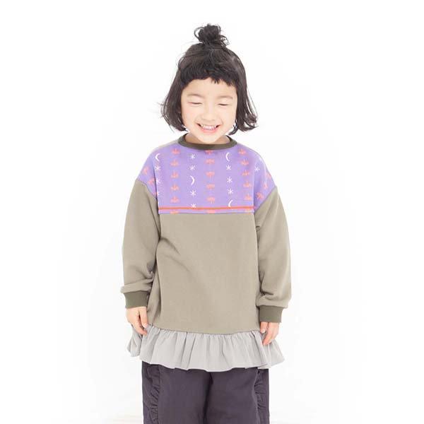 【MoL】yu-zora ガールズトレーナー|カーキ|90〜150cm、レディース