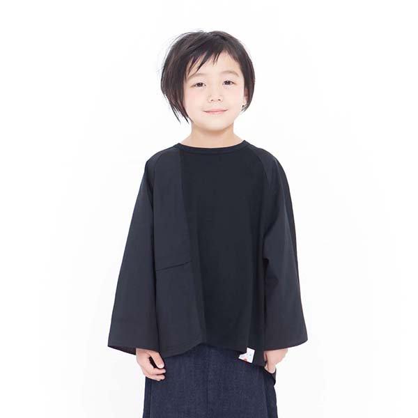 【MLP】トレンチTシャツ|ブラック|90〜150cm、レディース、メンズ