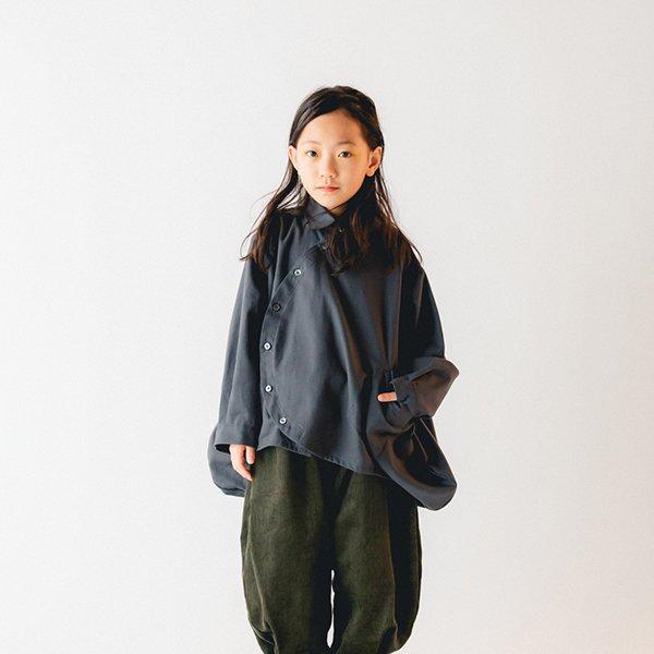 【nunuforme】サークルシャツ|チャコール|105-125cm、レディース