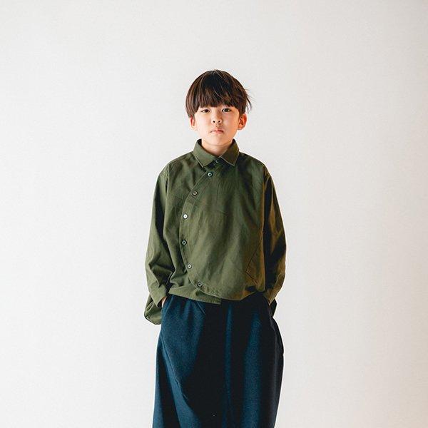 【nunuforme】サークルシャツ|カーキ|105-125cm、レディース