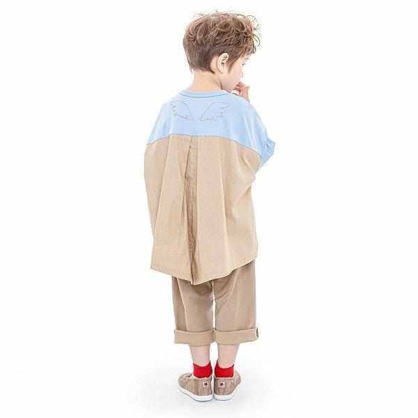 【MoL】wide-wing Tシャツ|ペールブルー|90〜150cm