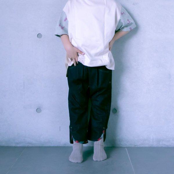 ≪先行予約≫【MoL】check slit パンツ|ネイビー|90〜150cm|4月中旬入荷予定