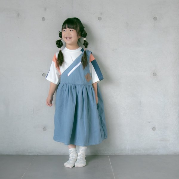 ≪先行予約≫【MoL】shoulder bag ワンピース|ネイビー|105-150cm|4月中旬入荷予定