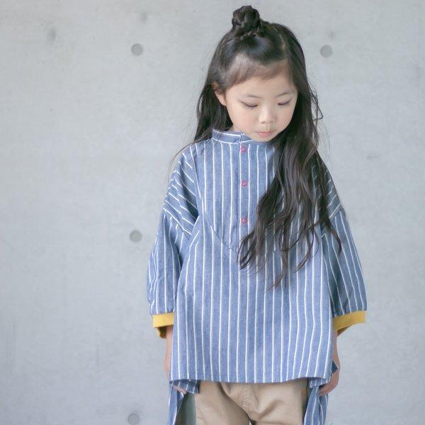 ≪先行予約≫【MoL】snap シャツ|ネイビー|90-150cm|3月上旬入荷予定