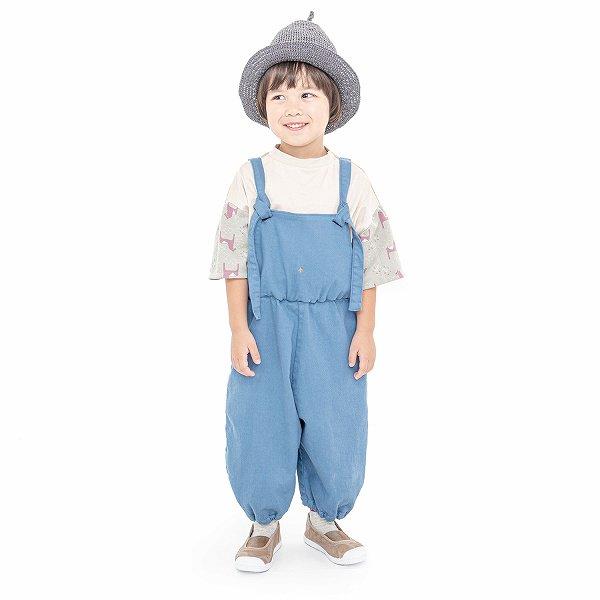 【MoL】salopette パンツ|ペールブルー|90〜150cm