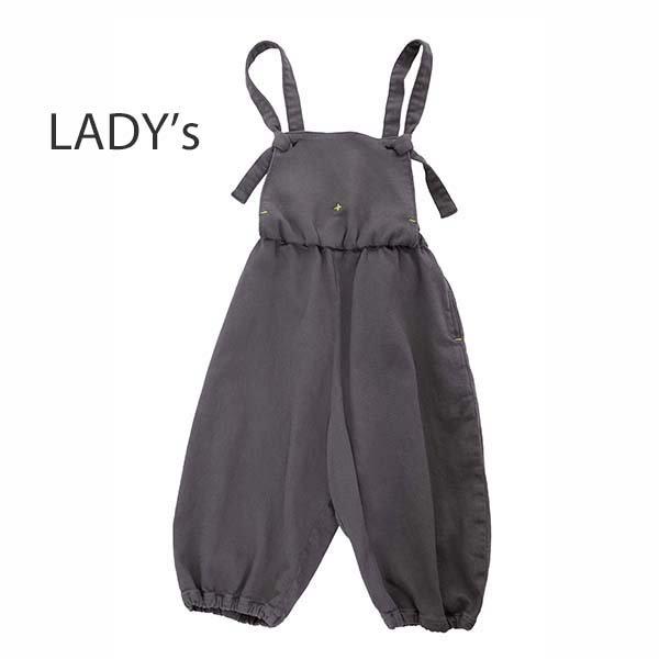 ≪先行予約≫【MoL】salopette パンツ|チャコール|レディース|4月上旬入荷予定