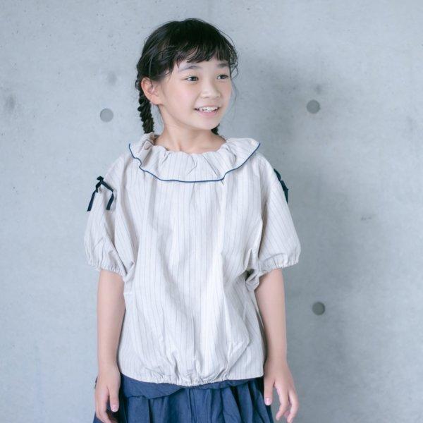【MoL】ribbon シャツ|ベージュ|90-150cm