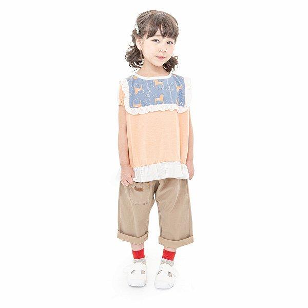 【MoL】miniature garden girls Tシャツ|シャーベットオレンジ|105-150cm