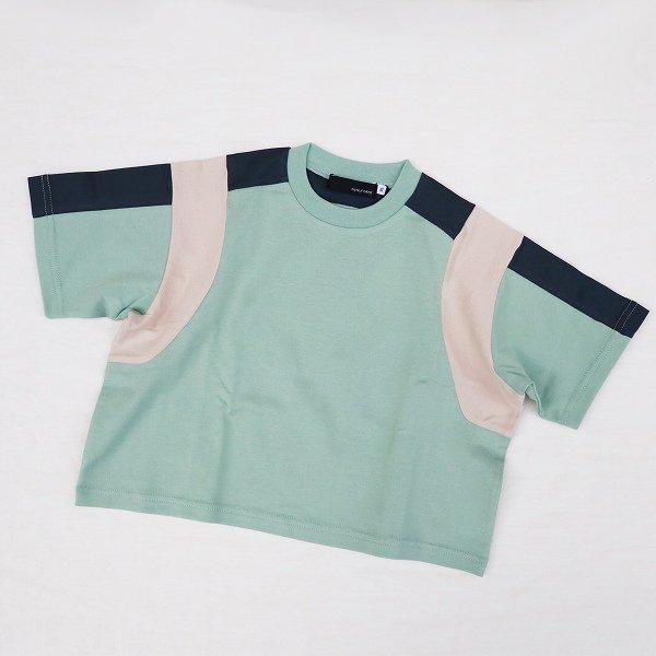 【nunuforme】トリコロールTシャツ|グリーン|95-135cm