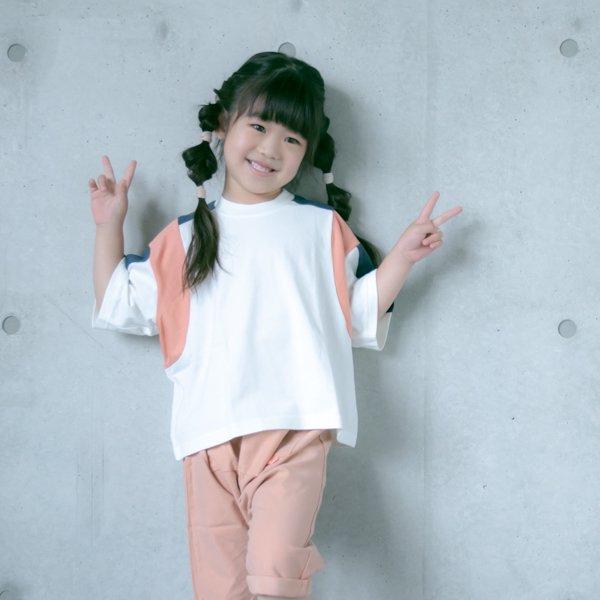 【nunuforme】トリコロールTシャツ|オフホワイト|95-135cm