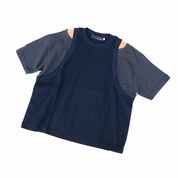 【nunuforme】レイヤードTシャツ|ネイビー|95-135cm