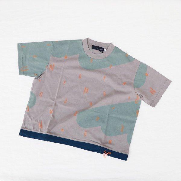 【nunuforme】ドローストリングTシャツ|グレー×オレンジ|95-135cm