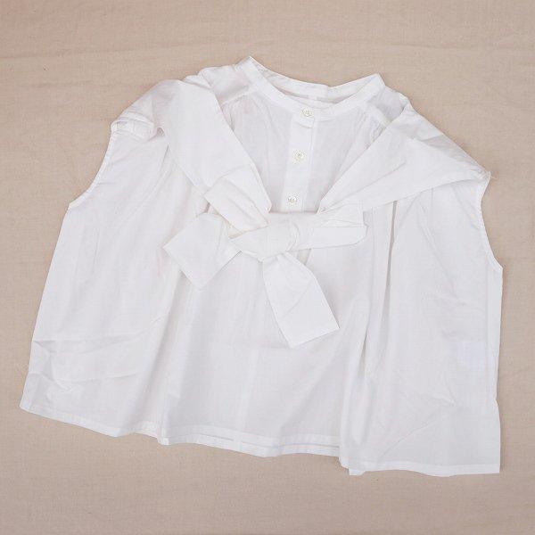 【nunuforme】ショルダーボウブラウス|オフホワイト|115-135cm