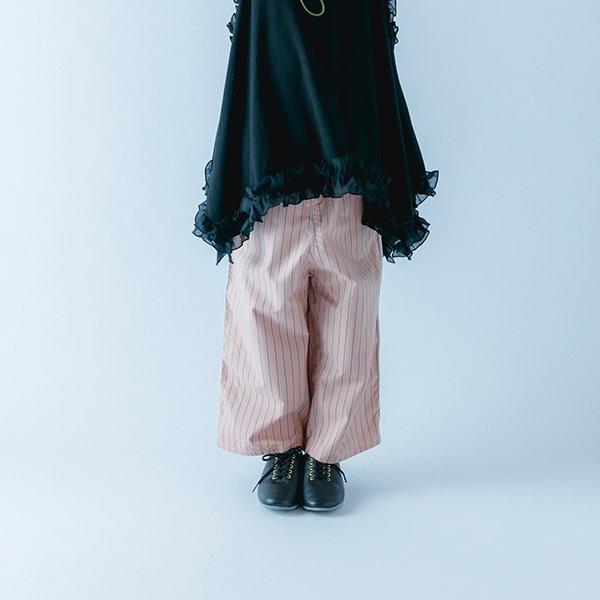 【nunuforme】サイドテープストレートパンツ|ピンク|115-135cm