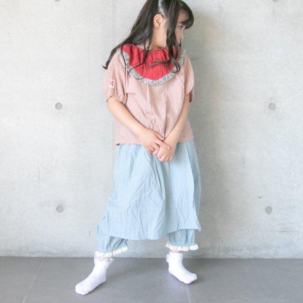 【MoL】work apron パンツ|ペールブルー|90〜150cm