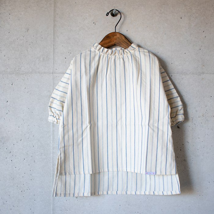 【MLP】dobby stripe シャツ ベージュ 90-150cm