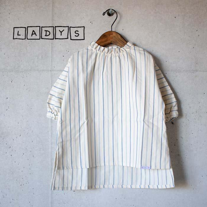 【MLP】dobby stripe シャツ ベージュ レディース
