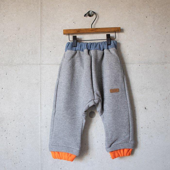 【MoL】layered spike パンツ ヘザーグレー 80〜150cm