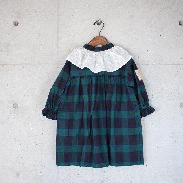 ≪先行予約≫【MoL】check ワンピース グリーン 90-150cm