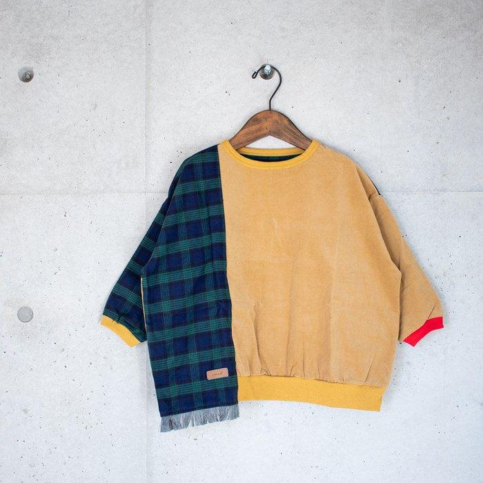 ≪先行予約≫【MoL】scarf スウェットシャツ マスタード 90-150cm