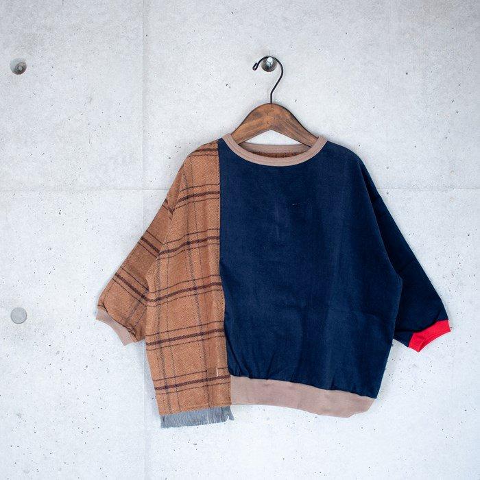 ≪先行予約≫【MoL】scarf スウェットシャツ ネイビー 90-150cm