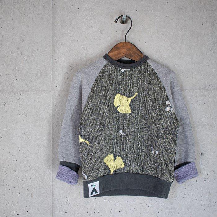 【MoL】jacquard スウェットシャツ ブラック 90-150cm