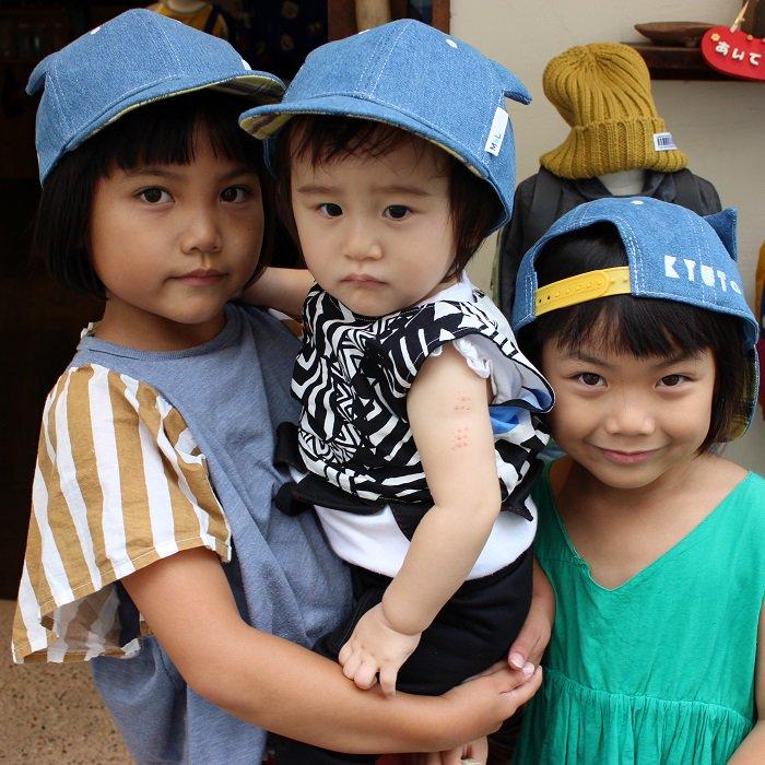 【×MoL】ラッキーねこ耳キャップ|ブルー