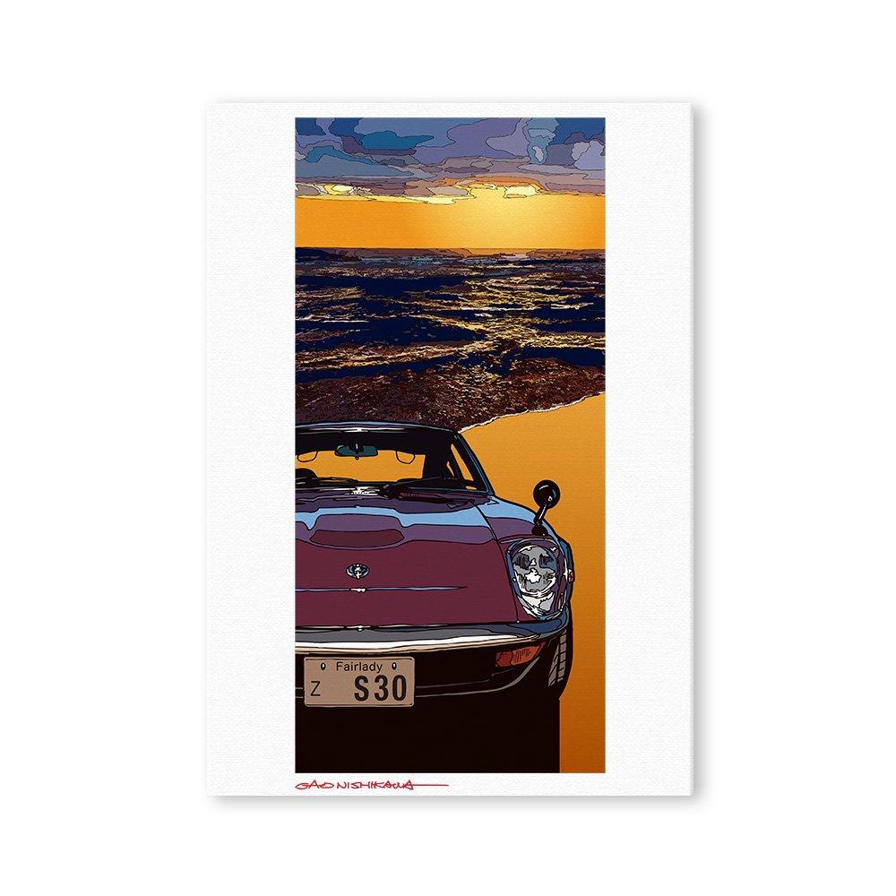 P3キャラファインボード&イーゼルセット GAO NISHIKAWA イラスト フェアレディZ(240ZG)(Ocean)
