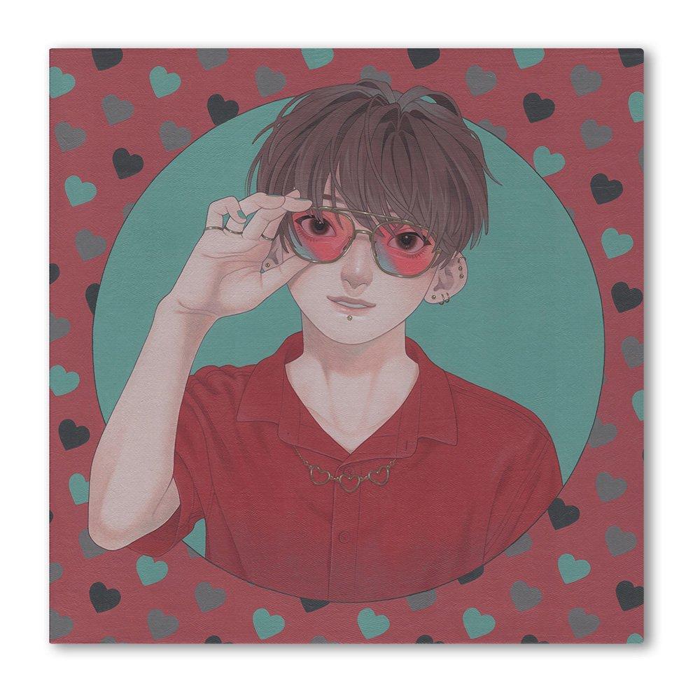 砂糖みかく キャラファインボード『色眼鏡(ハート)』